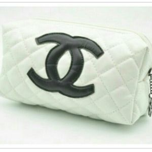White Quilted Cosmetic Bag